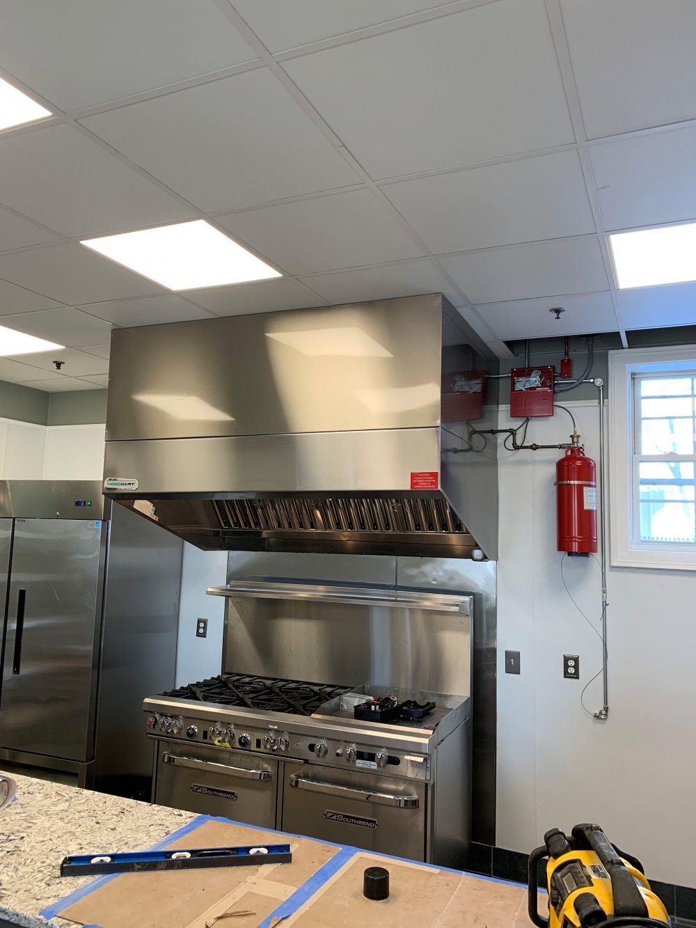 New hood installation and fire suppression system installation in Boston New England area