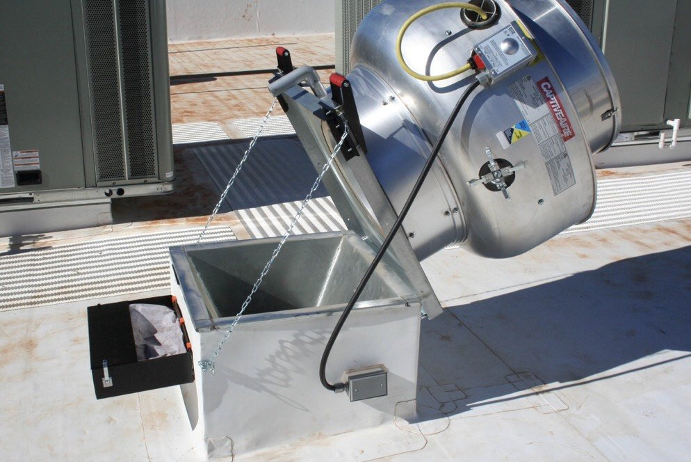One Call installs hinge kits for Boston commercial exhaust systems