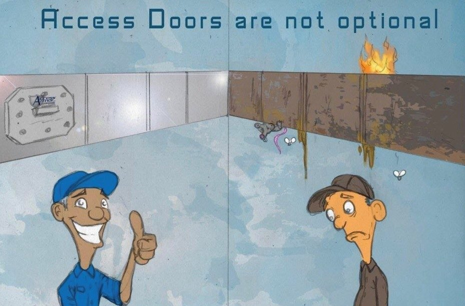 We do installation of access panels in Boston and Massachusetts as required by code